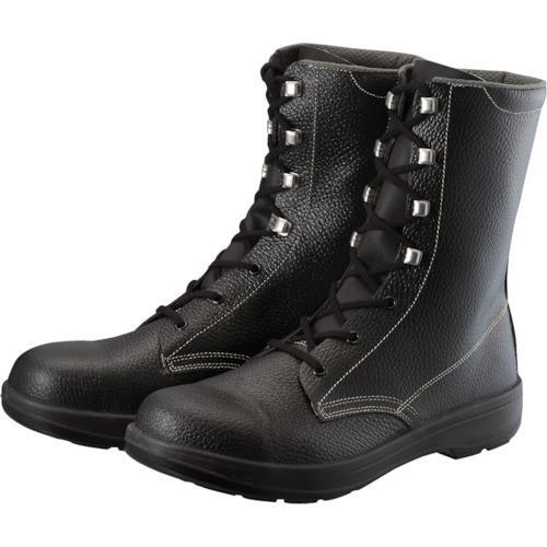 ■シモン 2層ウレタン底安全長編上靴 24.5cm ブラック AW33BK-24.5 (株)シモン【1141838:0】