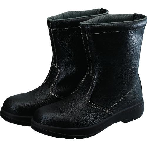 ■シモン 2層ウレタン底安全半長靴 23.5CM ブラック  AW44BK-23.5 【1141846:0】