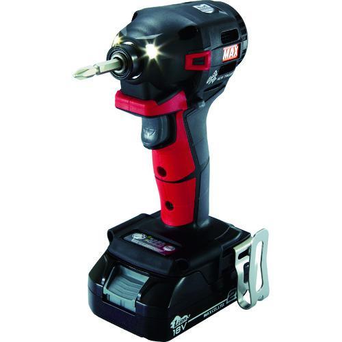 ■MAX 18V充電インパクトドライバセット(アカ)2.5Ah PJ-ID152R-B2C/1825A マックス(株)【1145075:0】