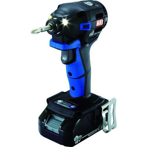 ■MAX 18V充電インパクトドライバセット(アオ)2.5Ah PJ-ID152B-B2C/1825A マックス(株)【1145077:0】