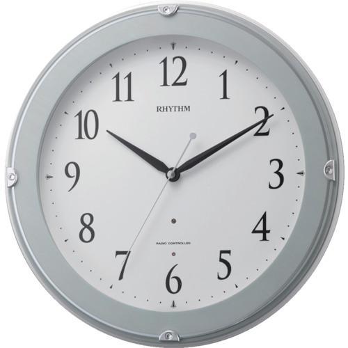 ■RHYTHM リズム 電波掛時計(夜間自動点灯ライト付) 8MYA23SR04 【1145118:0】