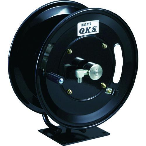 ■OKS 高圧ホースリール 耐圧20.5MPA 手動巻 固定据置き型(ホースなし)  HSP-12MB 【1145343:0】