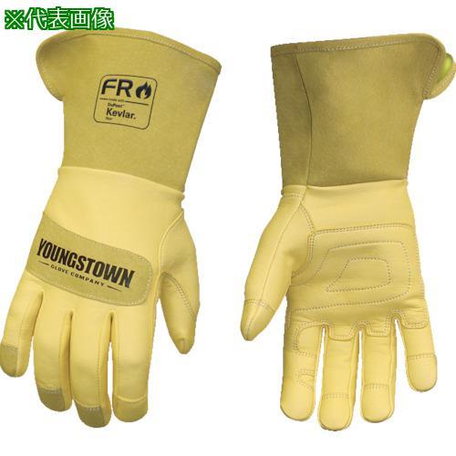 ■YOUNGST 革手袋 FRレザー ケブラー(R) ワイドカフ L 12-3275-60-L 【1146953:0】