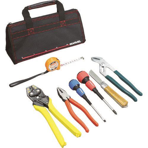 ■マーベル 電気工事士技能試験工具7点セット バッグタイプ MDK-17SC (株)マーベル【1152699:0】