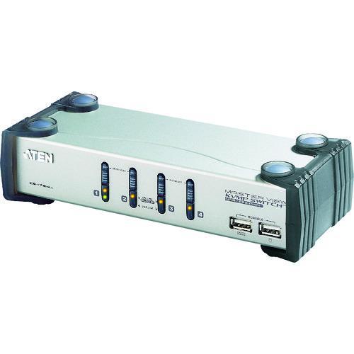 ■ATEN KVMP[[TM上]]スイッチ 4ポート/USB/VGA/オーディオ/USB2.0ハブ2ポート  CS1734A 【1152985:0】