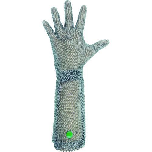 ■ミドリ安全 ステンレス製 耐切創クサリ手袋 5本指 ロングタイプ WILCO-550 SSサイズ 1枚 WILCO-550-SS 【1165261:0】