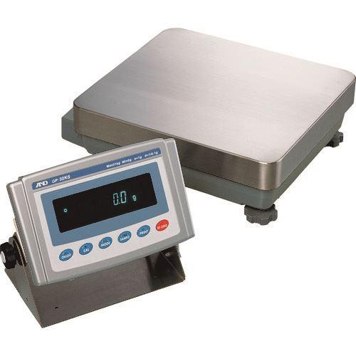 ■A&D 防塵・防水重量級天びん GP32KS (分離型) 一般校正付〔品番:GP32KS-00A00〕【1174089:0】【個人宅配送不可】