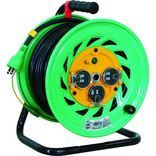 ■日動 電工ドラム 防雨防塵型100Vドラム アース付 30M  FW-E33 【1255851:0】
