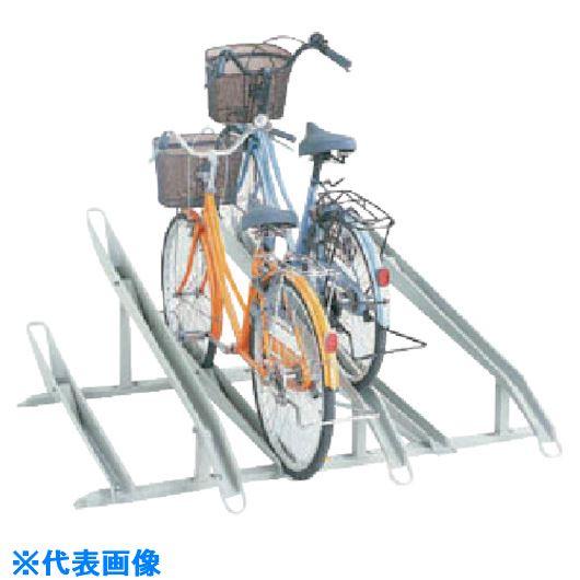 ■ダイケン 自転車ラック サイクルスタンド 5台収容 左低位〔品番:KS-C285A〕【1273847:0】[送料別途見積り][法人・事業所限定][外直送][店舗受取不可]