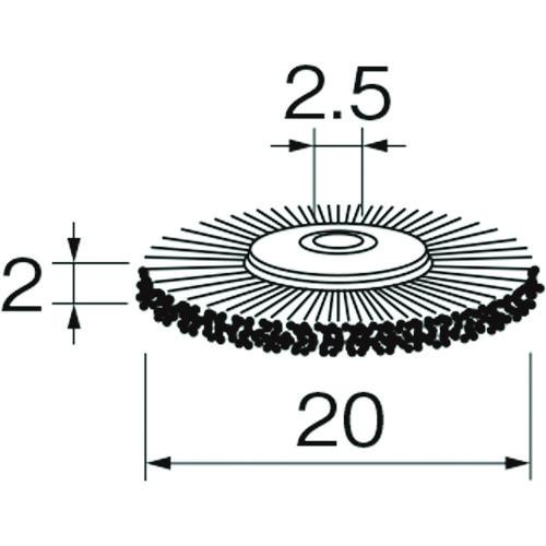 日本精密機械工作 株 日本産 カップブラシ ■リューター メイルオーダー ホイール型ブラシB2111〔品番:B2111〕 事業所限定 送料別途見積り 掲外取寄 法人 1283426:0