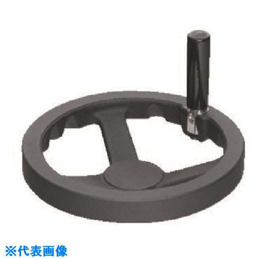 ■イマオ ハンドル 安全ハンドル車(加工付) ハンドル径200MM  〔品番:SY200-H23〕【1331609:0】