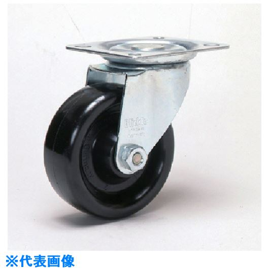 ■シシク 耐熱樹脂車輪付キャスター 自在 125径 スチール  〔品番:LI-PHN125G〕掲外取寄【1350269:0】