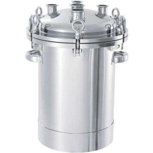 ?日東 ステンレスフランジオープン加圧容器200L 〔品番:PCN-O-200〕外直送元【1360414:0】【大型・重量物・個人宅配送不可】