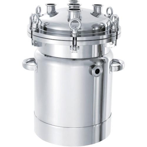 ?日東 ステンレスジャケット型フランジオープン加圧容器200L 〔品番:PCN-O-J-200〕外直送元【1360486:0】【大型・重量物・個人宅配送不可】