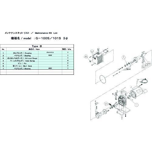 ■ULVAC G-100S/101S用メンテナンスキットB 3Φ  G-101S 【1374175:0】
