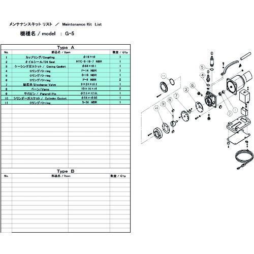 ■ULVAC G-5用メンテナンスキット  G-5 【1374182:0】