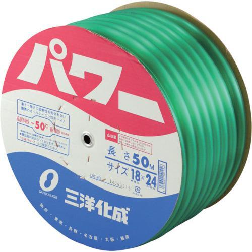 ■サンヨー パワーホース18×24 グリーン 50mドラム巻 PW-1824D50G (株)三洋化成【1477447:0】