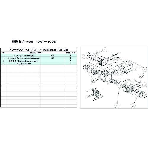 ■ULVAC DAT-100S用メンテナンスキット  DAT-100S 【1486876:0】
