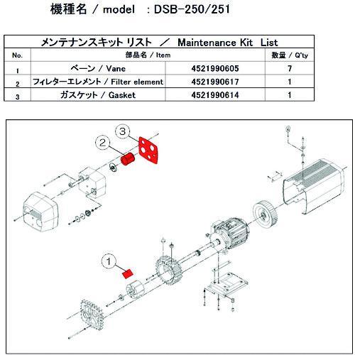 ■ULVAC DSB-251用メンテナンスキット  DSB-251 【1487151:0】