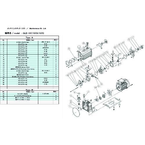 ■ULVAC GLD-137用メンテナンスキットA  GLD-137 【1487177:0】