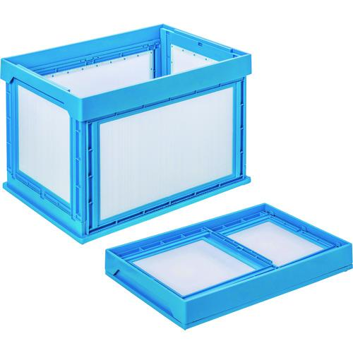 ■KUNIMORI プラダン折畳みコンテナ パタコン NM-100 ブルー  50110-NM100-B 【1489741:0】