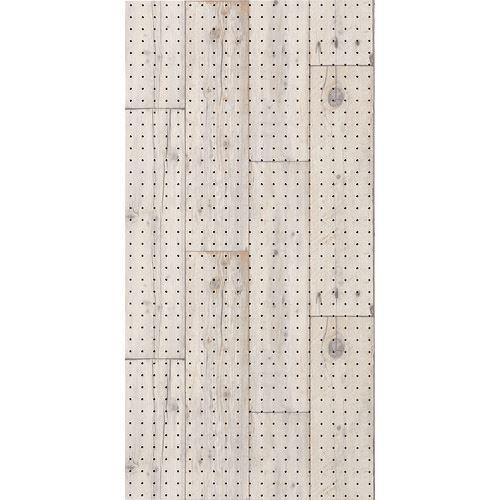 ■光 木目調パンチングボード アンティークホワイト 5枚入 〔品番:PGIBD105-2〕【1517189×5:0】【大型・重量物・個人宅配送不可】【送料別途見積もり】