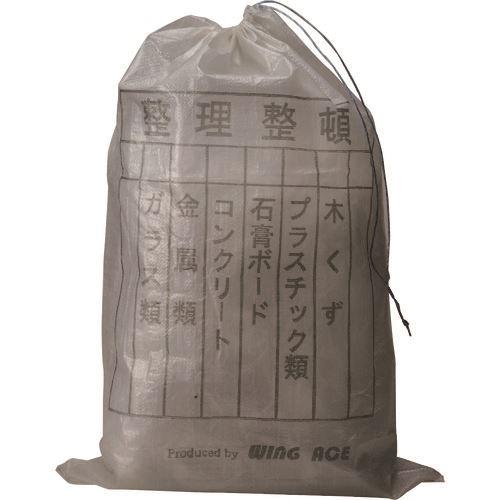 ■WING ACE クリスタル米袋(クリヤー)分別印刷入 紐付《200枚入》〔品番:PP-130〕【1521827×200:0】[送料別途見積り][法人・事業所限定][外直送][店舗受取不可]