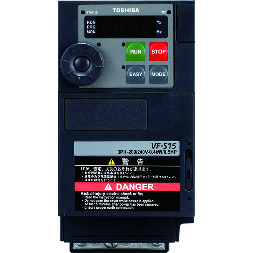 ■東芝 三相200V入力インバ-タ 適用モータ出力7.5KW  〔品番:VFS15-2075PM〕【1538185:0】[法人・事業所限定][外直送元]
