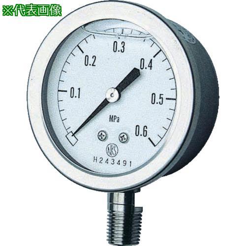 ■長野 グリセン入圧力計 A枠立型 Φ60 最小目盛0.100 GV50-173-2.5MP 長野計器【1575970:0】