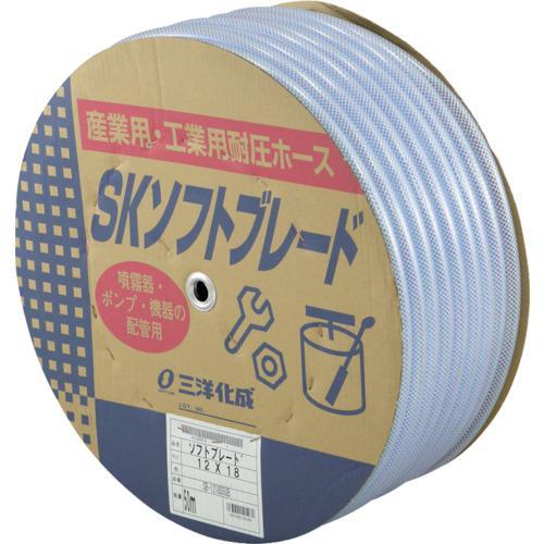 ■サンヨー SKソフトブレードホース12×18 50mドラム巻 SB-1218D50B (株)三洋化成【1582453:0】