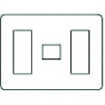 ■PANASONIC ラフィーネアコンセントP7コ用3+1+3 5個入 〔品番:WTX7077S〕【1586298×5:0】「送料別途見積り」・「法人・事業所限定」・「掲外取寄」