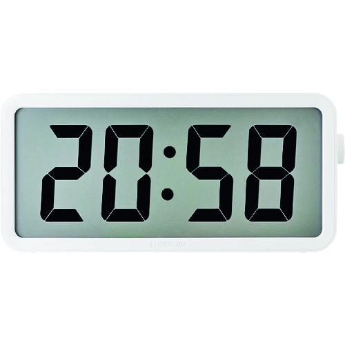 ■キングジム 電波掛時計 ザラ-ジ タイマ-クロック  DTC-001W 【1606448:0】