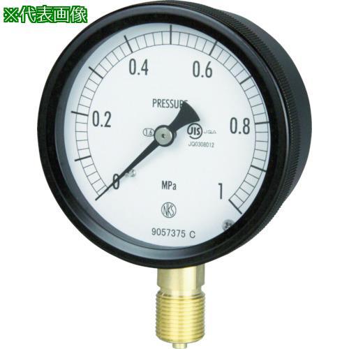 ■長野 密閉形圧力計 A枠立型 Φ75 最小目盛0.200 BC10-131-10.0MP 長野計器【1614371:0】