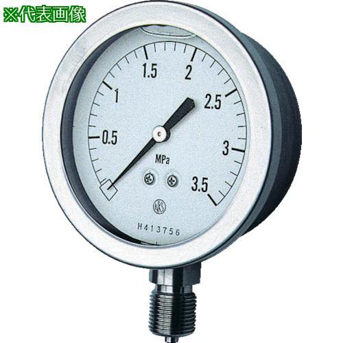 ■長野 グリセン入圧力計 A枠立型 Φ75 最小目盛0.050 GV51-133-1.0MP 長野計器(株)【1614487:0】