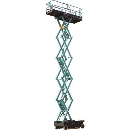 ?北越 垂直昇降型ホイール式高所作業車 9.9m スライドデッキ 〔品番:ENTL099S-3〕外直送【1621710:0】【大型・重量物・送料別途お見積り】