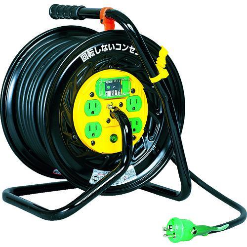 ■日動 電工ドラム マジックリール 100V アース漏電しゃ断器付 30M  Z-EB34 【1645129:0】