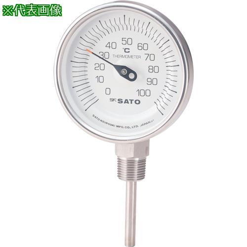 ■佐藤 バイメタル温度計BMーS型 BM-S-90S-6 【1689258:0】