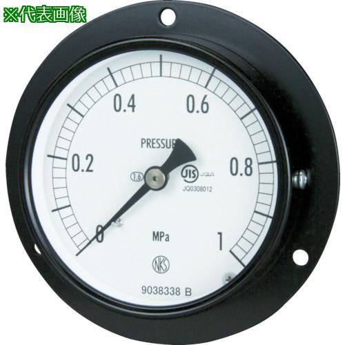 ■長野 普通形圧力計 D枠埋込型 Φ75 最小目盛0.100   AC15-231-4.0MP 【1692844:0】