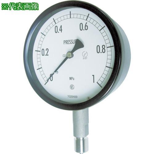 ■長野 密閉形圧力計 A枠立型 Φ100 最小目盛0.002 BE10-133-0.1MP 長野計器(株)【1693786:0】