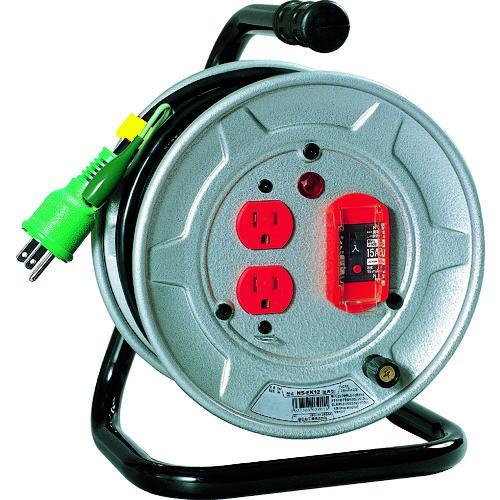 ■日動 電工ドラム 標準型100Vドラム アース過負荷漏電しゃ断器付 10M  NS-EK12 【2098954:0】