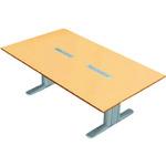 ■プラス XF TYPE-L 会議テーブル XL-2412KG WM/M4 (604201)  〔品番:XL-2412KG〕外直送【2101881:0】【大型・重量物・個人宅配送不可】【送料別途見積もり】