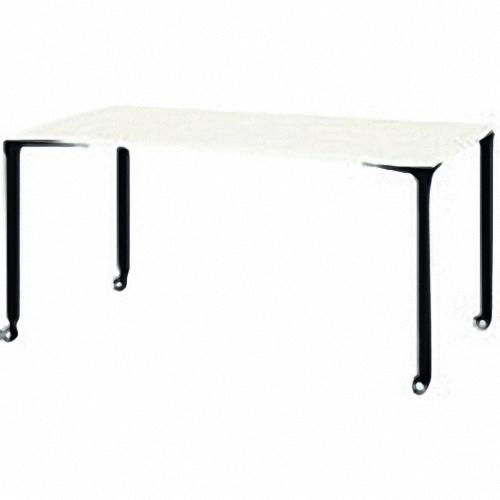 ■プラス ロンナ 会議テーブル NN-1509PKR W4/BK (662875)  〔品番:NN-1509PKR〕外直送【2112667:0】【大型・重量物・個人宅配送不可】【送料別途見積もり】
