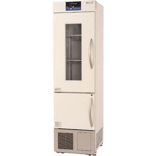 ■SIBATA スリム型薬用冷凍冷蔵庫 SMS-154GS  〔品番:051620-150〕【2130490:0】「送料別途見積り」・「法人・事業所限定」・「掲外取寄」