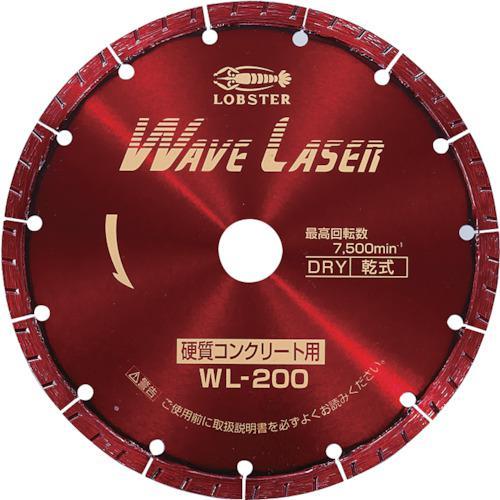 ■エビ ダイヤモンドホイール ウェブレーザー(乾式) 203mm WL200 (株)ロブテックス【2133628:0】