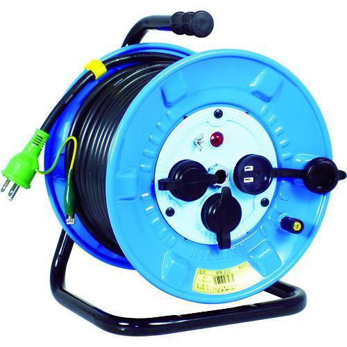 ■日動 電工ドラム 防雨防塵型100Vドラム アース付 30M  NPW-E33 【2902052:0】