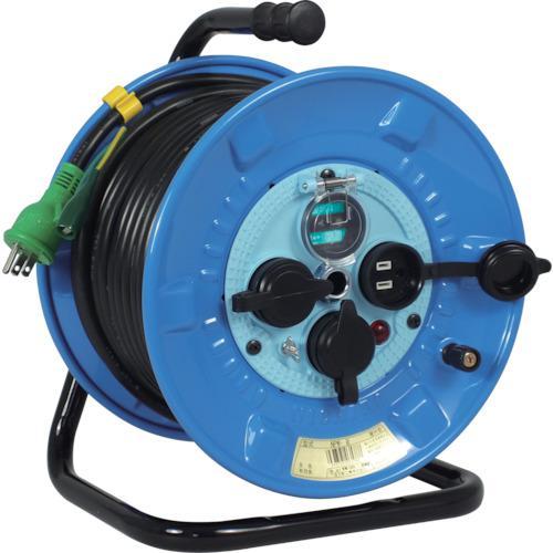 ■日動 電工ドラム 防雨防塵型100Vドラム アース漏電しゃ断器付 30M  NPW-EB33 【2902061:0】