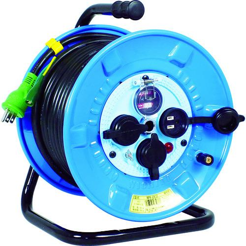 ■日動 電工ドラム 防雨防塵型100Vドラム アース過負荷漏電しゃ断器 30M  NPW-EK33 【2902079:0】