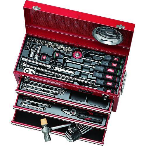 ■KTC 工具セット(チェストタイプ)  〔品番:SK4586X〕【3073343:0】