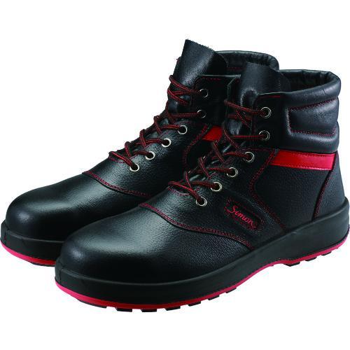 ■シモン 安全靴 編上靴 SL22-R黒/赤 24.5cm SL22R-24.5 (株)シモン【3255654:0】