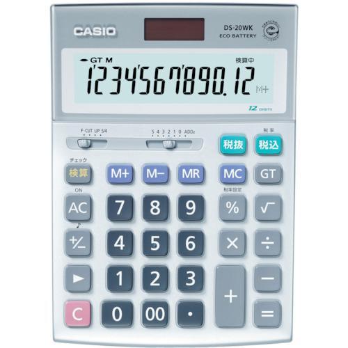 ■カシオ 検算電卓(デスクタイプ) DS-20WK カシオ計算機(株)【3284956:0】